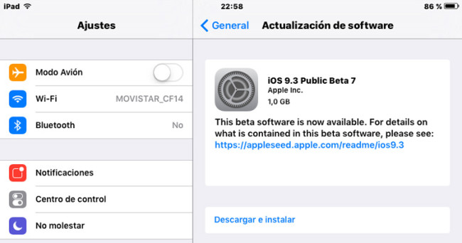 iOS_9-3_Beta-7-1_iPad_actualizacion_Ajustes_