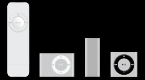 Todas la generaciones del iPod Shuffle