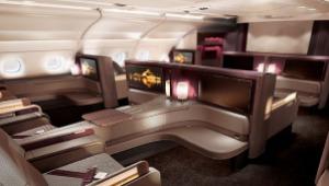 Primera clase en el Airbus A380 de Qatar Airwys