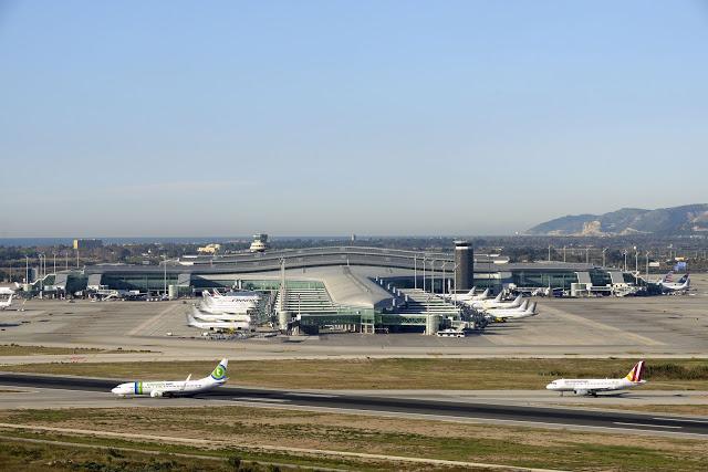 Terminal 1 del Aeropuerto de Barcelona-El Prat.