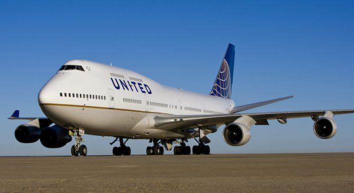 Boeing 747 de United Airlines.