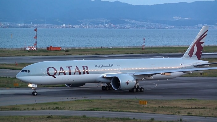 Boeing 777-300ER de Qatar Airways.